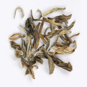 Dried ancient tea leaves