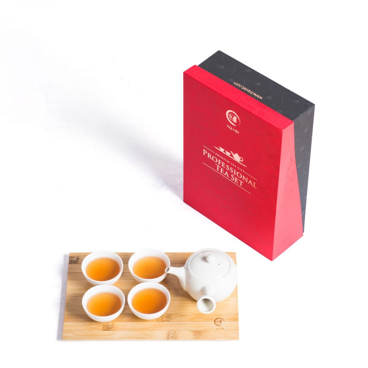 Gift set with standard porcelain tea sets