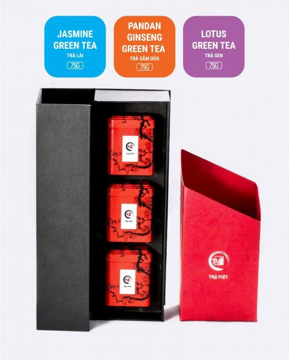 Lotus Jasmine Pandan Ginseng Tea Tin Gift 3