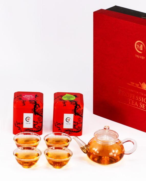 Ginseng Oolong – Peppermint Tea Standard Glass Plus