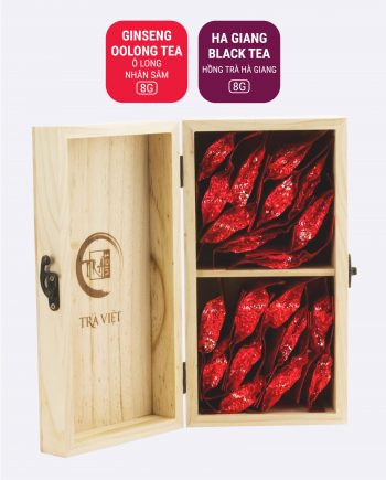 Ginseng Oolong Black Tea Wooden Convenience Gift 2