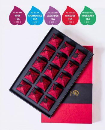 Lavender Rose Chamomile Rosemary Hibiscus Tea Pyramid Gift 15