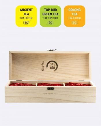 Oolong Ancient Top Bud Tea Wooden Convenience Gift 3