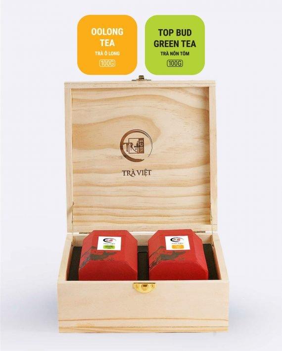 Oolong Top Bud Tea Wooden Classic Gift