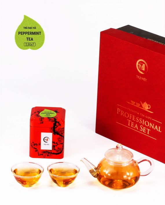 Peppermint Tea Couple Glass Plus