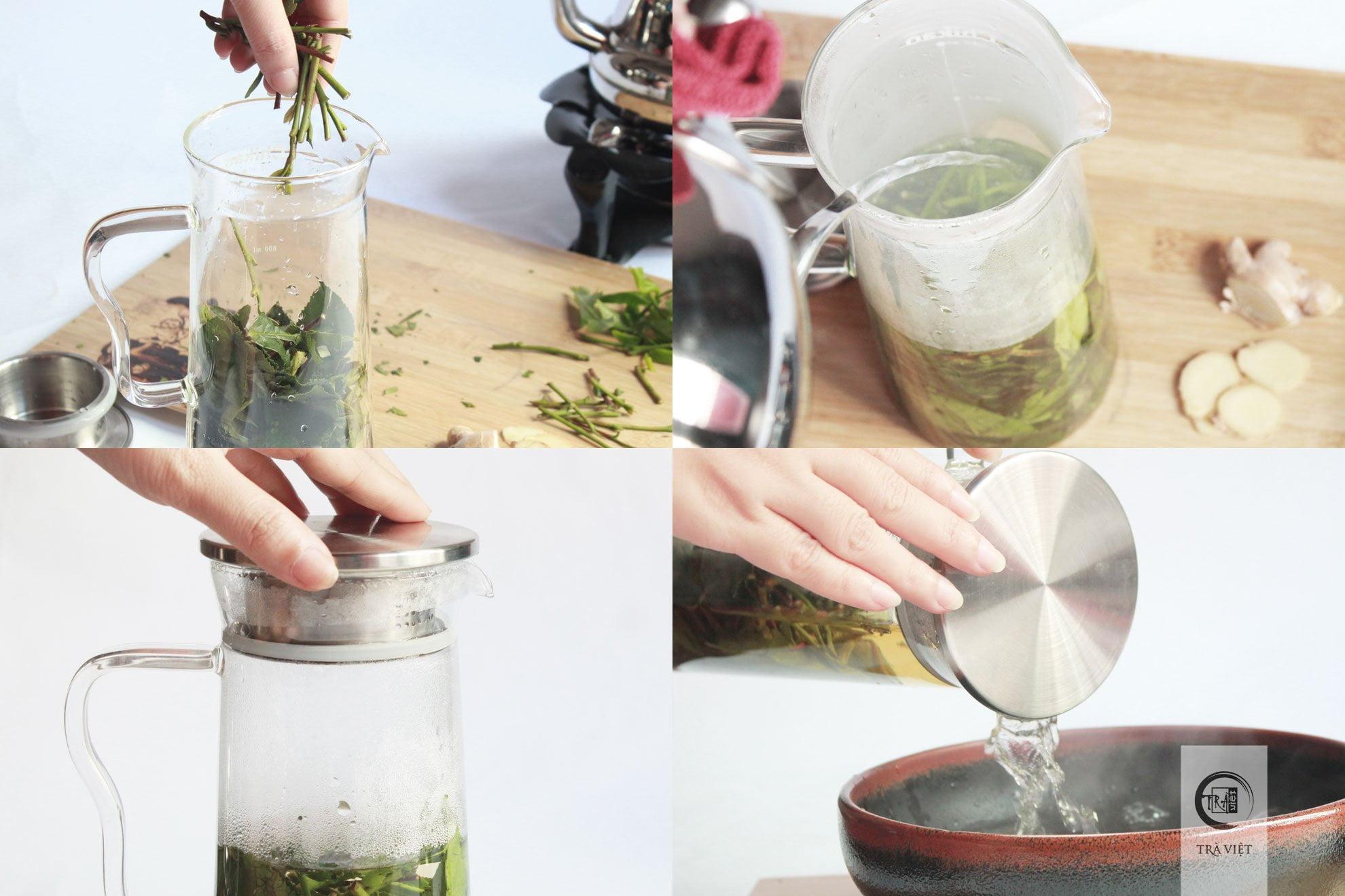 Cách nấu trà xanh - trần trà