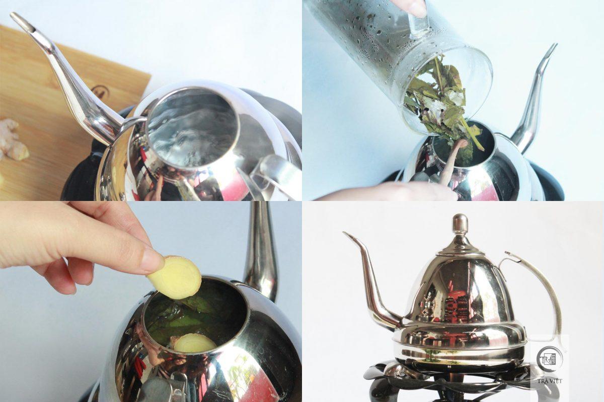 Cách nấu trà xanh - nấu trà