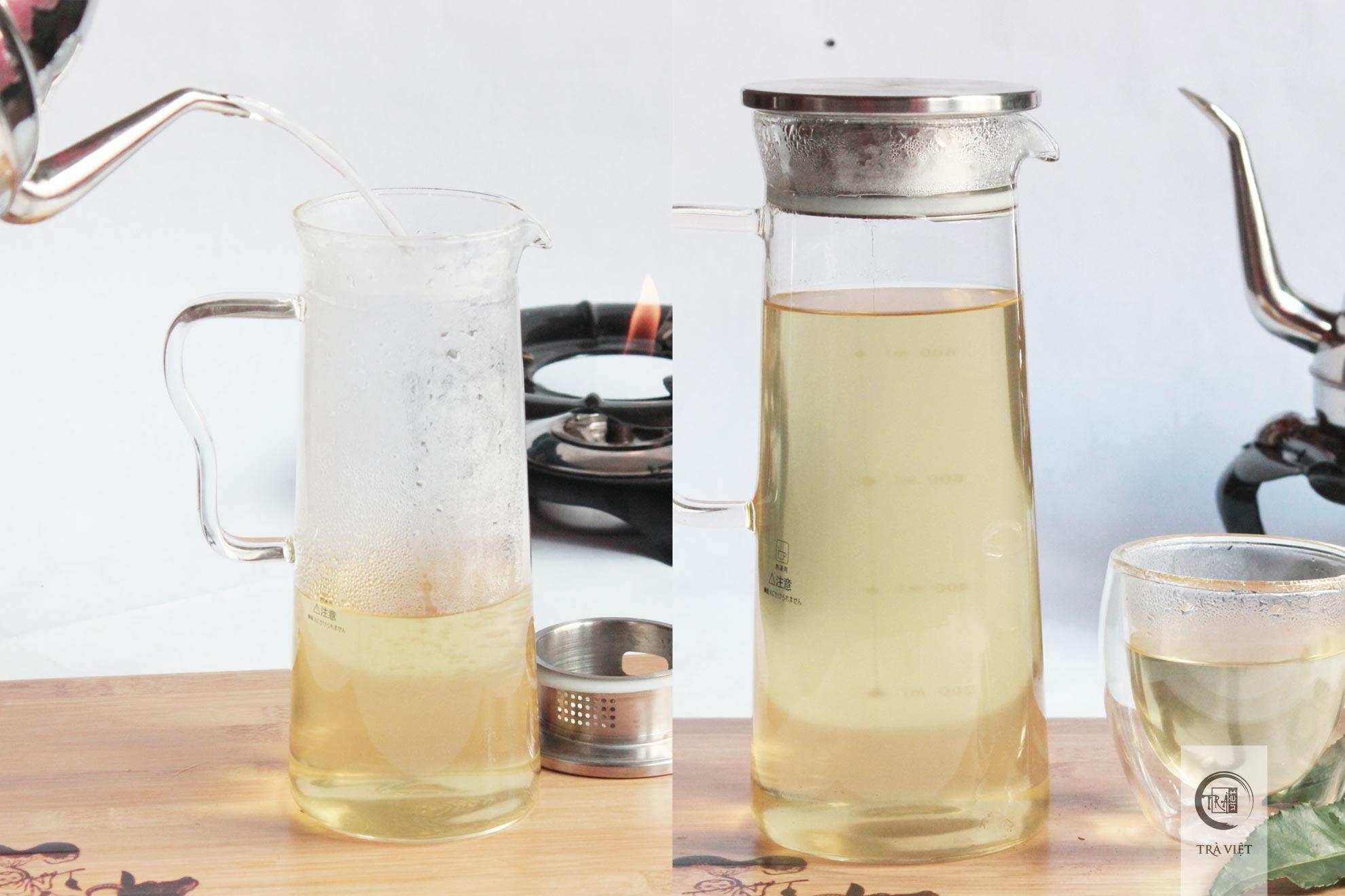 Cách nấu trà xanh - rót trà