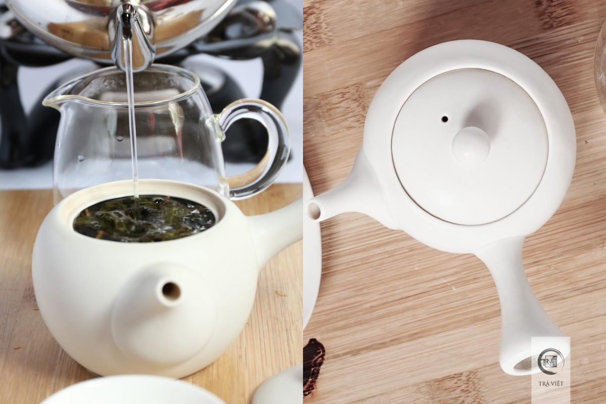 oolong tea pouring