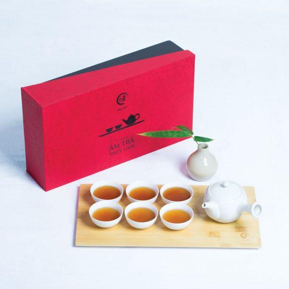 xu hương quà tết 2021 - bộ ấm trà sứ