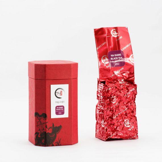Hộp bát giác hồng trà Hà Giang