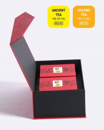 Hộp An Khang trà cổ thụ, trà ô long