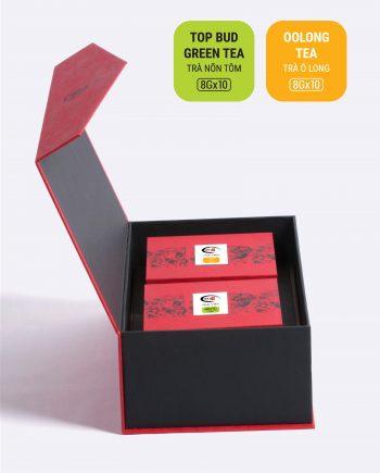 Hộp An Khang trà nõn tôm, trà ô long