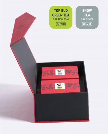 Hộp An Khang trà nõn tôm, trà tuyết