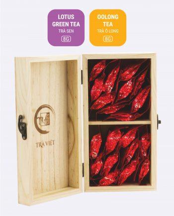 Hộp Tâm Giao 2 trà sen, trà ô long