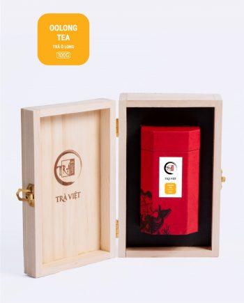 Hộp Tâm Phúc gỗ trà ô long