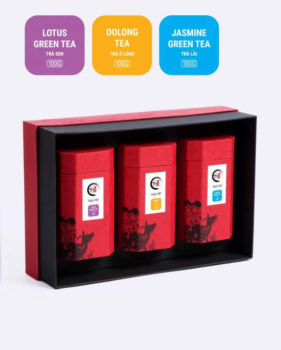 Hộp Tri Ân trà ô long, trà sen, trà lài