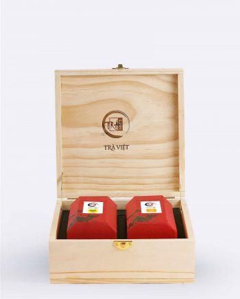 Hộp Tri Kỷ gỗ trà ô long, trà cổ thụ