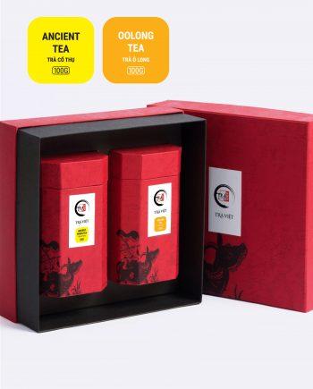 Hộp Tri Kỷ trà cổ thụ, trà ô long