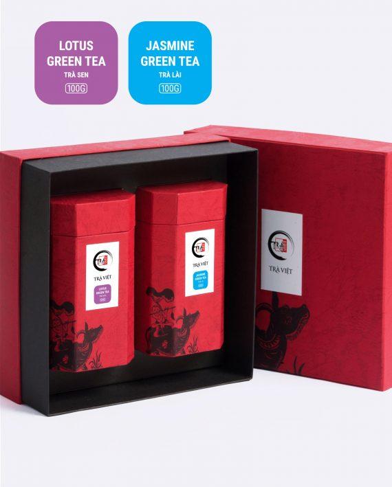 Hộp Tri Kỷ trà sen, trà lài