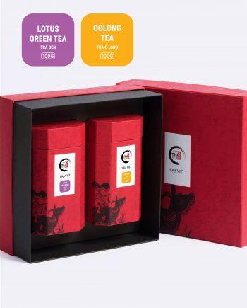 Hộp Tri Kỷ trà sen, trà ô long